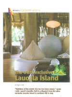 The ultra-exclusive Laucala Island
